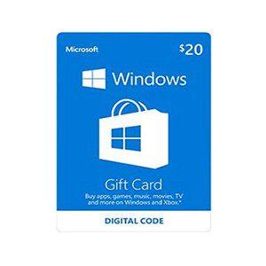 Microsoft Gift Card 20$