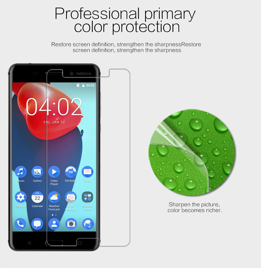 Nokia 6 Super Nillkin Clear Anti-fingerprint Protective