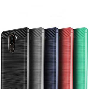 گارد فیبر کربنی مخصوص گوشی نوکیا 6.1 پلاس