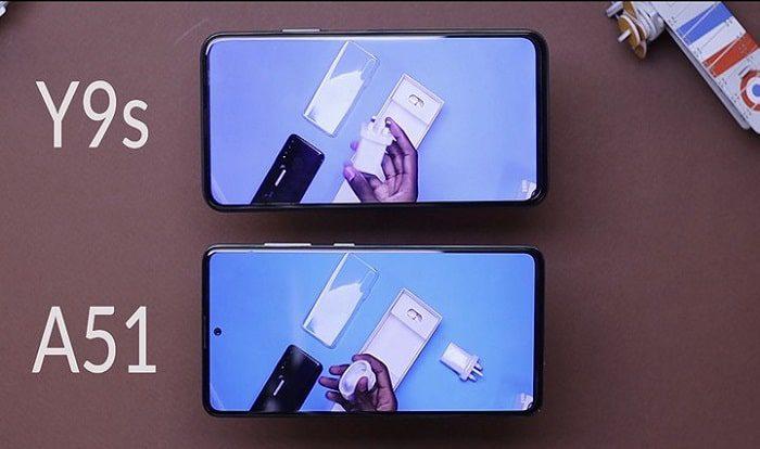 مقایسه گوشی گلکسی A51 و هواوی Y9S