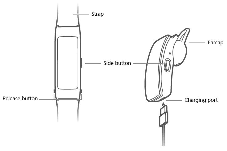 قیمت مچ بند هوشمند هواوی مدل TalkBand B3 Lite GRU-B09